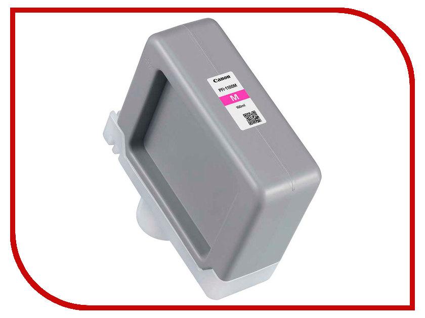 Картридж Canon PFI-1100M Magenta 160ml 0852C001 картридж magenta pfi 701m пурпурный пигментный