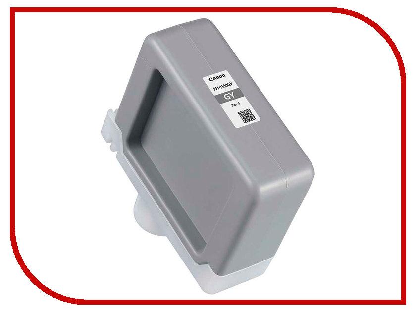 Картридж Canon PFI-1100GY Grey 160ml 0856C001 картридж canon pfi 207m 8791b001