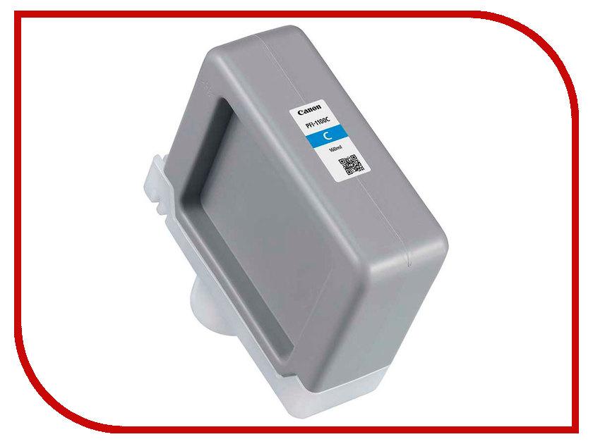Картридж Canon PFI-1100C Cyan 160ml 0851C001 картридж canon pfi 307m magenta 330ml для ipf 830 840 850 9813b001