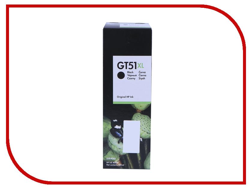 Тонер HP GT51XL Black 135ml для MFP DeskJet GT5810/5820 X4E40AE цена и фото