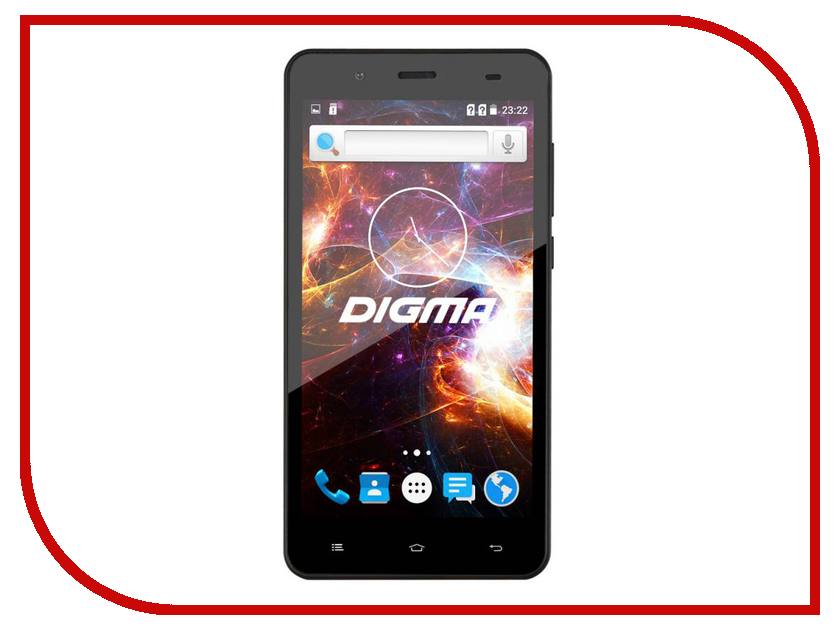 Сотовый телефон Digma VOX S504 3G Graffit смартфон digma s504 3g vox 8gb белый vs5016pg white