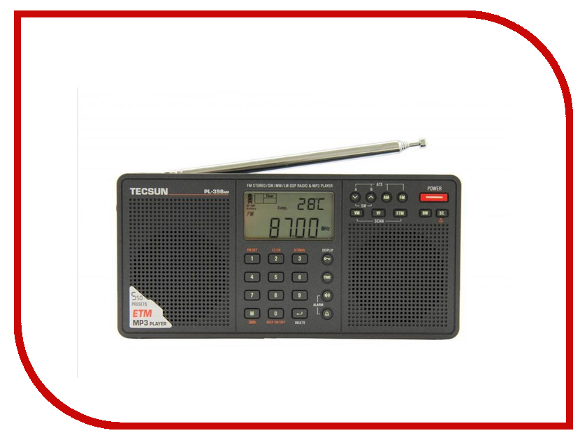 Радиоприемник Tecsun PL-398MP pl 21 stylish rivet backpack purple