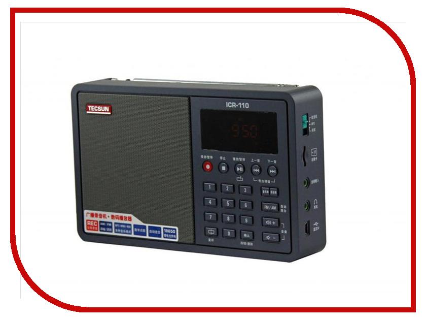 Радиоприемник Tecsun ICR-110 Black tecsun приемник типа pl 398mp