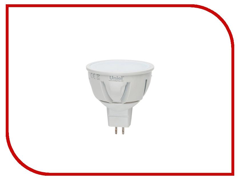 Лампочка Uniel LED-JCDR-7W/NW/GU5.3/FR PLP01WH лампа светодиодная 07907 gu10 6w 4500k jcdr матовая led jcdr 6w nw gu10 fr 38d alp01wh