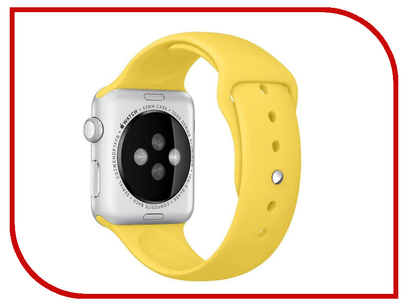 Аксессуар Ремешок APPLE Watch 42mm Activ Yellow Sport Band 79562 аксессуар ремешок apple watch 42mm activ yellow sport band 79562