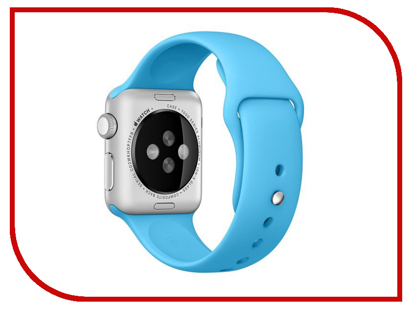 Аксессуар Ремешок APPLE Watch 42mm Activ Sky Blue Sport Band 79559 аксессуар ремешок activ sport band для apple watch 38mm sky blue 79534