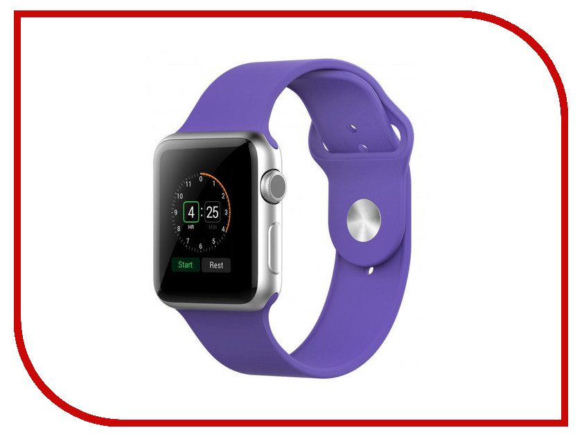 Аксессуар Ремешок APPLE Watch 42mm Activ Light Purple Sport Band 79550 аксессуар ремешок activ sport band для apple watch 38mm beige 79513