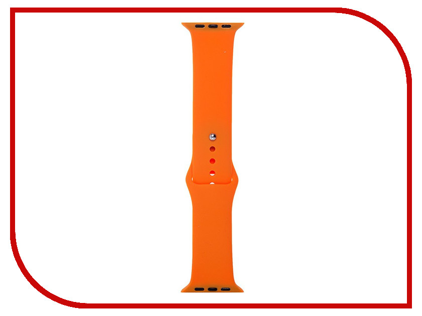 Аксессуар Ремешок APPLE Watch 42mm Activ Light Orange Sport Band 79548 20mm 22mm 24mm 26mm leather watch strap watch band man watch straps green orange beige with stainless steel silver buckle