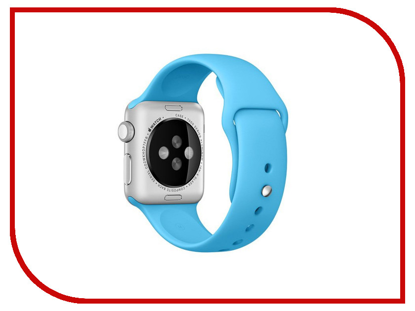 Аксессуар Ремешок APPLE Watch 42mm Activ Light Blue Sport Band 79546 аксессуар ремешок apple watch 42mm activ red smooth leather 79566