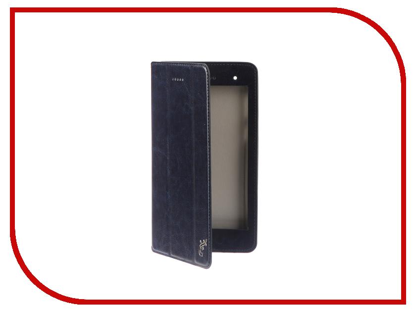 Аксессуар Чехол для Lenovo Tab 4 TB-7304X / TB-7304i / TB-7304F G-Case Executive Dark Blue GG-913 magnetic smart pu leather cover for lenovo tab 4 8 plus tb 8704f tb 8704n 8 0 tablet funda case with auto sleep screen film pen