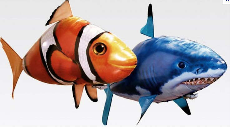 Инструктаж по сборке Air Swimmers летающая рыба Акула Shark или Клоун Clownfish