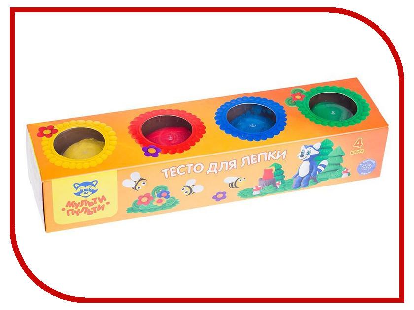 Набор для лепки Мульти-пульти Тесто для лепки Енот на пасеке 4 цвета 90г ТЛ_13469 масса для лепки candy clay набор круассан