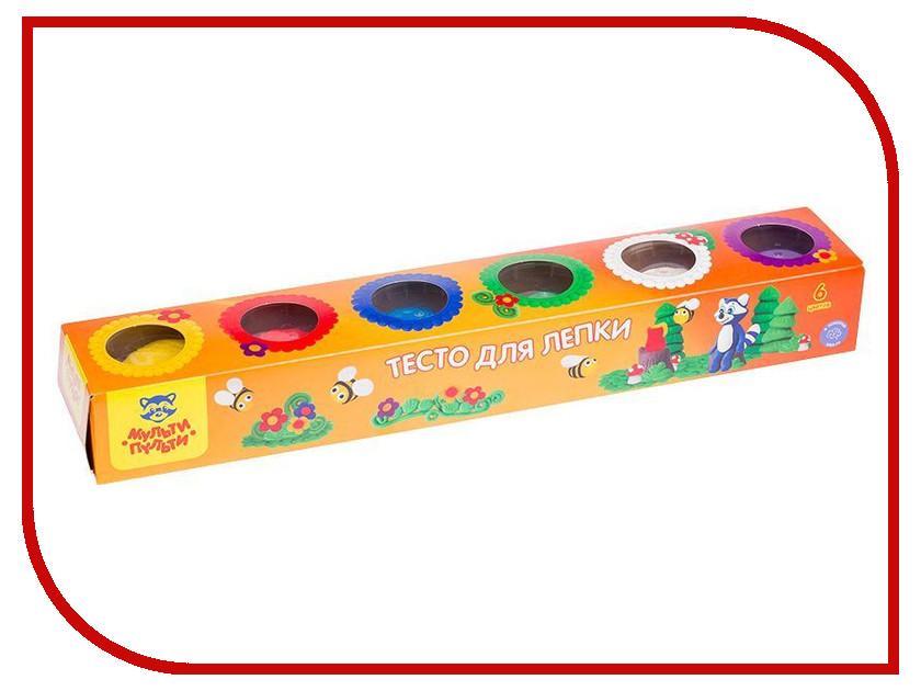 Набор для лепки Мульти-пульти Тесто для лепки Енот на пасеке 6 цветов 90г ТЛ_13471 масса для лепки candy clay набор круассан