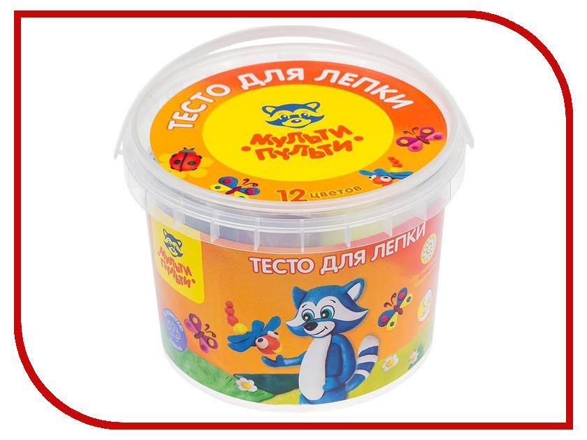 Набор для лепки Мульти-пульти Тесто для лепки Енот в деревне 12 цветов 30г ТЛ_12209 масса для лепки candy clay набор круассан