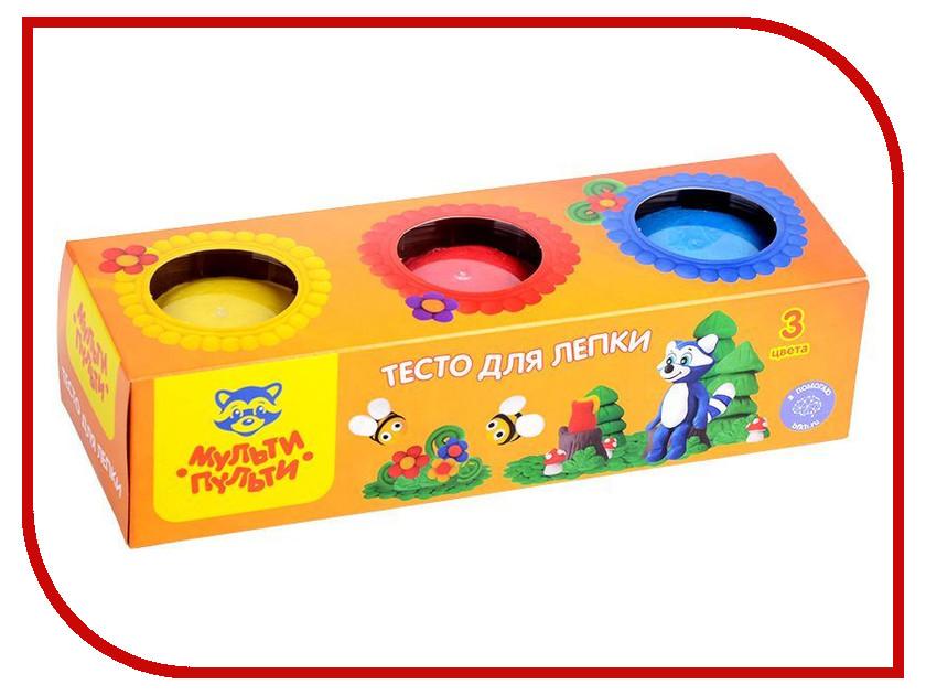Набор для лепки Мульти-пульти Тесто для лепки Енот на пасеке 3 цвета 90г ТЛ_13468 масса для лепки candy clay набор круассан