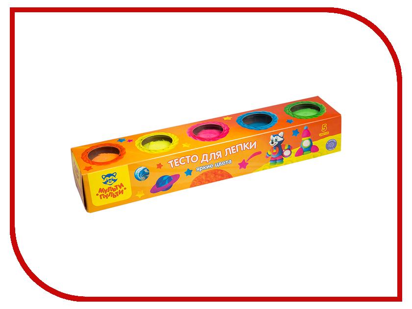 Набор для лепки Мульти-пульти Тесто для лепки Енот на Луне 5 цветов 90г ТЛ_16735 масса для лепки candy clay набор круассан