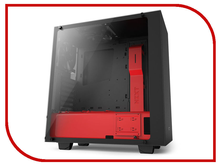 Корпус NZXT S340 Elite Black-Red CA-S340W-B4 1more super bass headphones black and red