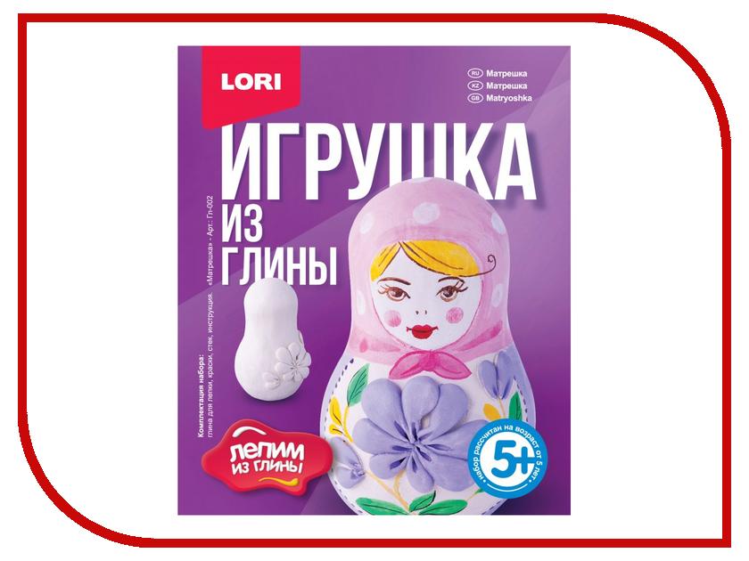 Набор для лепки Lori Игрушка из глины Матрешка Гл-002 набор для лепки фантазер глина голубая 217011