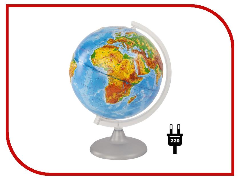 Глобус Глобусный мир Физический рельефный 250mm с подсветкой 10179