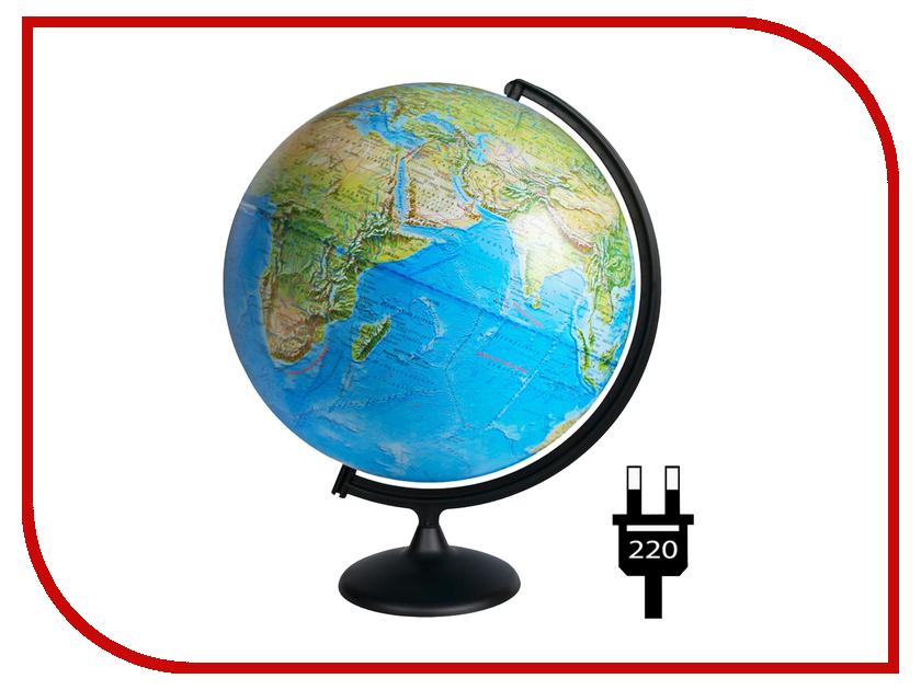 Глобус Глобусный мир Физико-политический 420mm с подсветкой 10355 глобус физико политический d 320 мм напольный с подсветкой