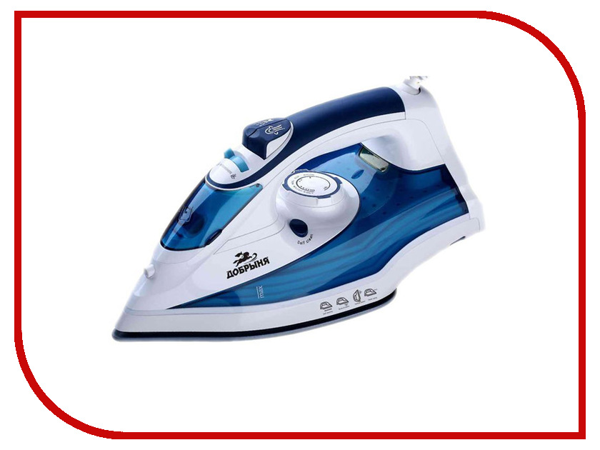 Утюг Добрыня DO-3108 White-Blue погружной блендер добрыня do 2305 white