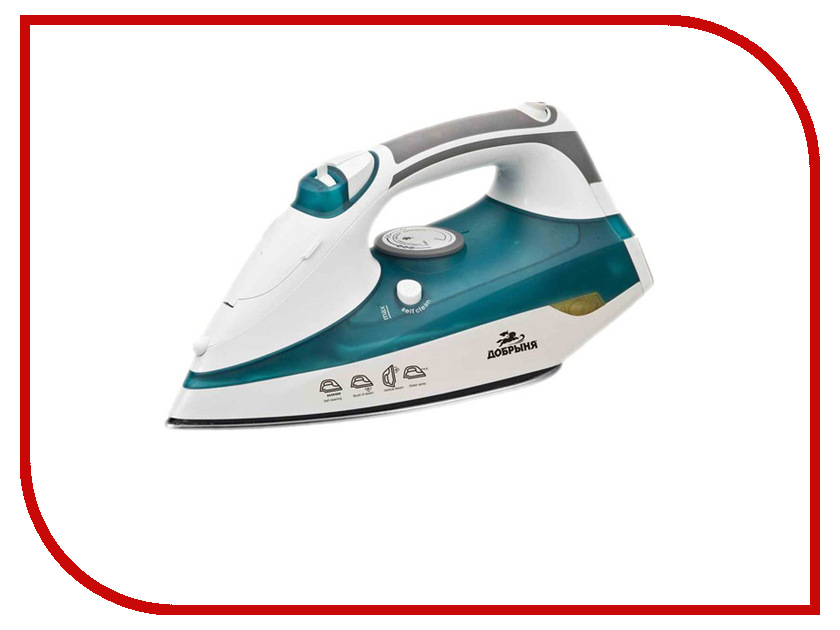 Утюг Добрыня DO-3104 White-Turquoise погружной блендер добрыня do 2305 white