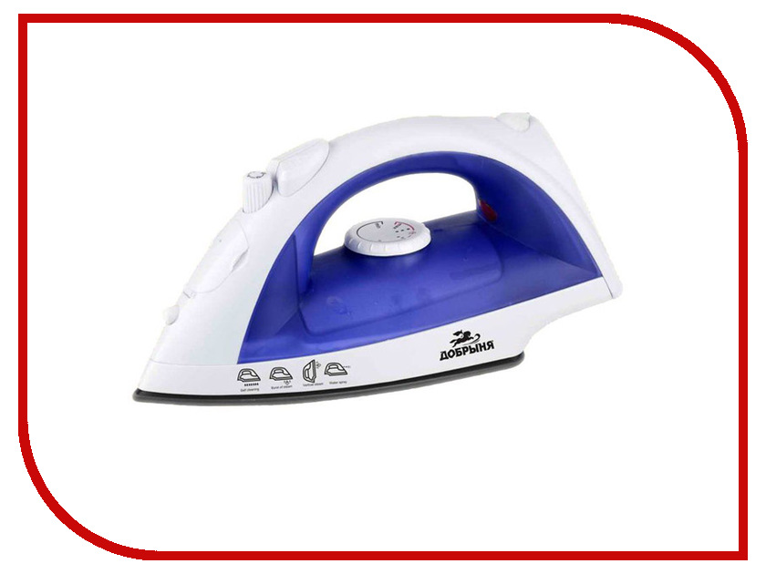 Утюг Добрыня DO-3102 White-Blue погружной блендер добрыня do 2305 white