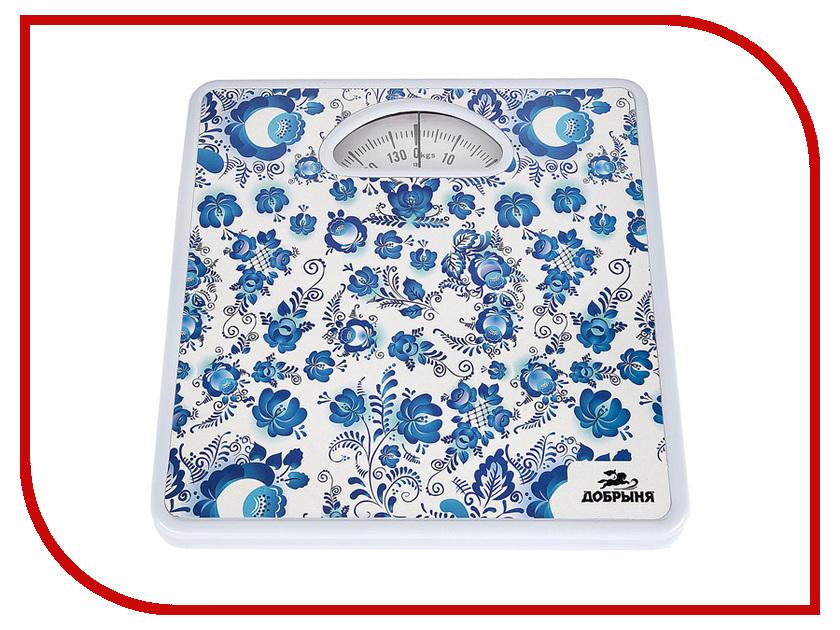 Весы напольные Добрыня DO-3003 Гжель погружной блендер добрыня do 2305 white