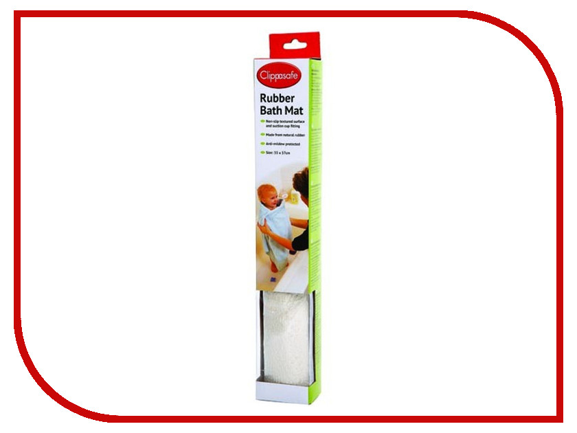 Коврик для ванны Clippasafe CL36 White защита clippasafe защитный замок для створчатой двери clippasafe cl72