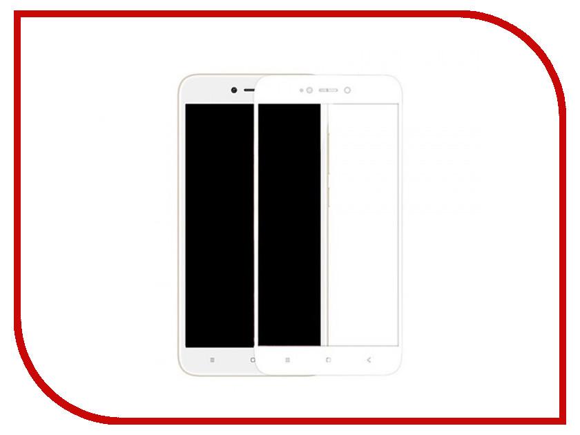 Аксессуар Защитное стекло Xiaomi Redmi Note 5A Media Gadget 2.5D Full Cover Glass White Frame MGFCGXRN5AWT аксессуар защитная пленка lg l80 media gadget premium прозрачная mg885