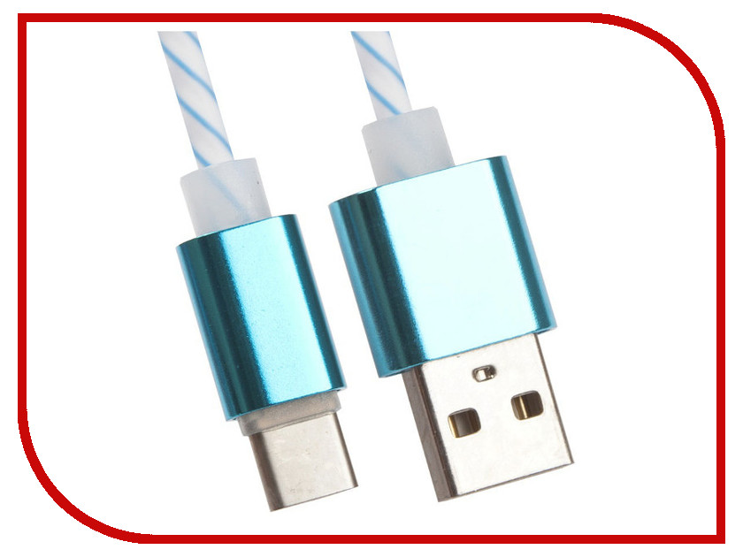 Аксессуар Liberty Project USB - USB Type-C 1m White-Light Blue 0L-00030559
