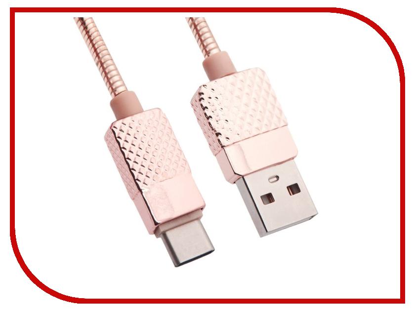 Аксессуар Liberty Project USB - USB Type-C Гламурный Ананас 1m Pink 0L-00036306 кабель red line usb – usb type c 1m pink