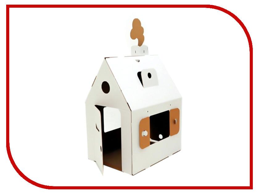 Игрушка Картонный папа Мини домик White CD-MINIHOUSE-W картонный папа домик из картона мини домик картонный папа