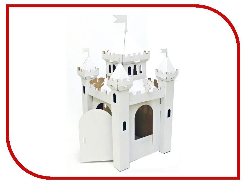 Игрушка Домик Картонный папа Сказочный замок White CD-PRINCASTLE-W игровые наборы папа карло игрушка деревянная стучалка папа карло