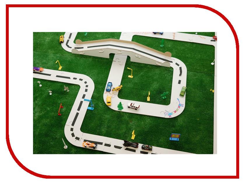 Сборная модель Картонный папа Гонки по картонке White CD-RACE-W игрушка картонный папа мини домик white cd minihouse w