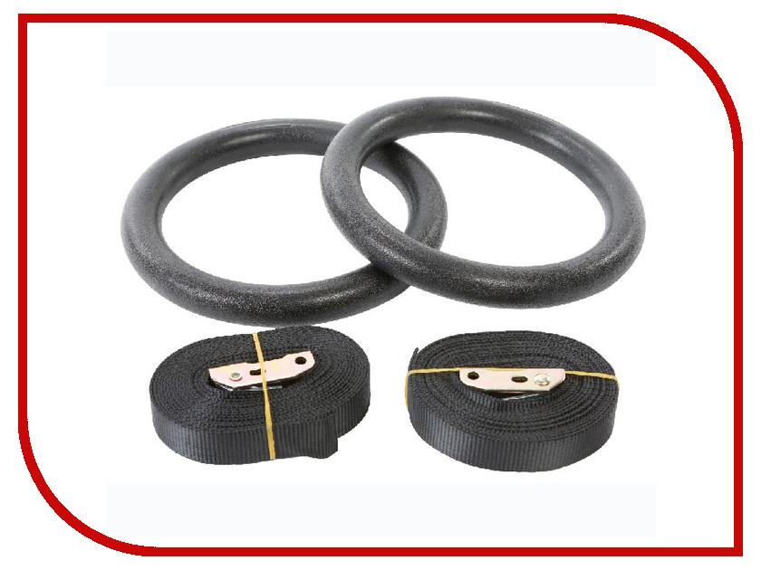 Тренажер Indigo Кольца гимнастические для кроссфита d-18cm (пластик, нейлон) 97654 IR B гимнастические кольца proxima деревянные pgr 2403wd