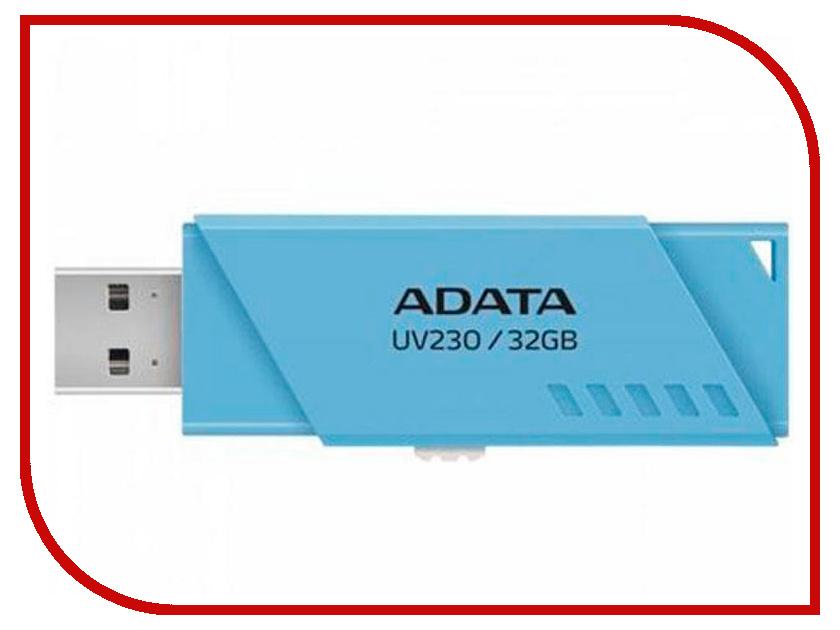 USB Flash Drive 32Gb - A-Data UV230 Blue AUV230-32G-RBL цена и фото