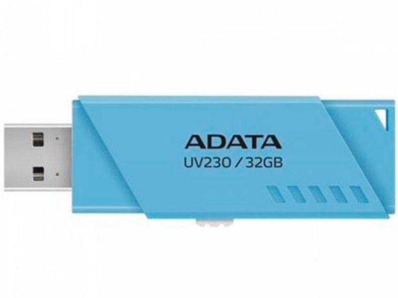 USB Flash Drive 32Gb - A-Data UV230 Blue AUV230-32G-RBL usb flash drive 8gb a data uc510 metallic blue auc510 8g rbl