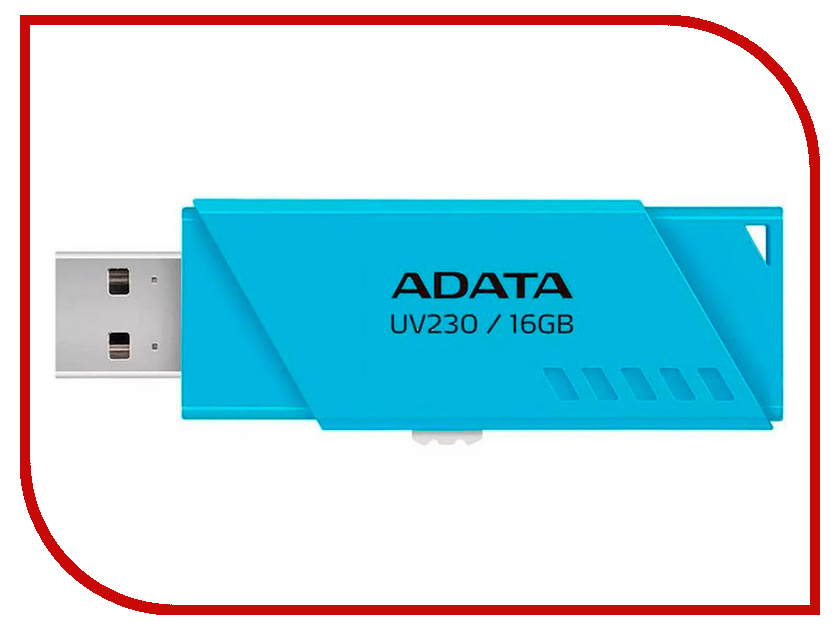 USB Flash Drive 16Gb - A-Data UV230 Blue AUV230-16G-RBL