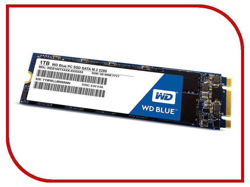 Жесткий диск 1Tb - Western Digital WD Blue WDS100T2B0B накопитель ssd western digital wd blue 3d nand sata ssd 1 tb wds100t2b0b