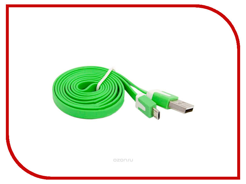 Аксессуар Liberty Project USB - Micro USB 1m Green SM000118
