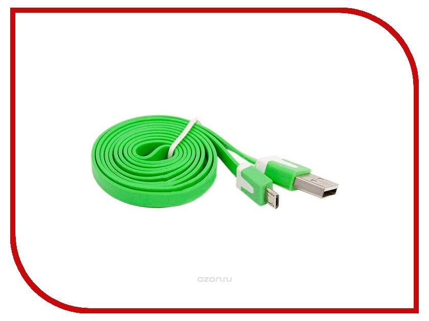 Аксессуар Liberty Project USB - Micro USB 1m Green SM000118 usb кабель lp micro usb плоский узкий зеленый европакет sm000118