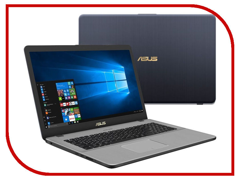 Ноутбук ASUS N705UN-GC089T XMAS Edition 90NB0GV1-M01060 (Intel Core i7-7500U 2.7 GHz/8192Mb/1000Gb/No ODD/nVidia GeForce 1040/Wi-Fi/Cam/17.3/1920x1080/Windows 10 64-bit) ноутбук asus 90nb0gv1 m01390