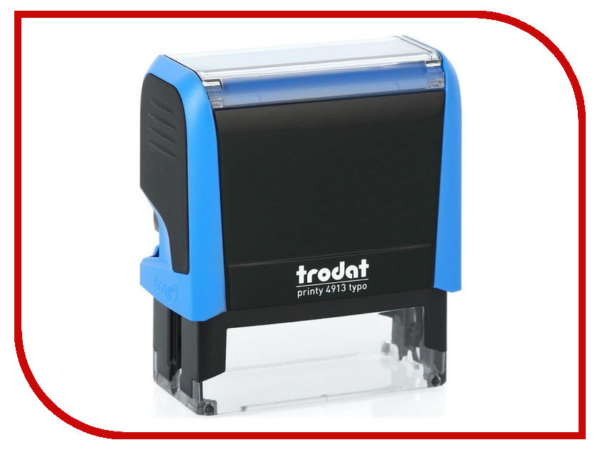 Штамп самонаборный Trodat 4913P4/DB 58x22mm Blue 4913/DB штамп самонаборный trodat 5 строчный 4913 db 2 кассы пластик 58 22мм
