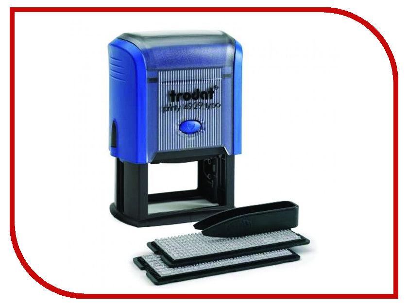 Штамп самонаборный Trodat 4929/DB 50x30mm Blue 53408 штамп самонаборный trodat 5 строчный 4913 db 2 кассы пластик 58 22мм