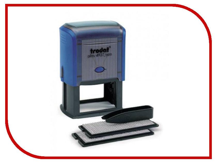 Штамп самонаборный Trodat 4927/DB 60x40mm Blue 4957 штамп самонаборный trodat 5 строчный 4913 db 2 кассы пластик 58 22мм