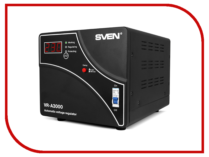 Стабилизатор Sven VR-A3000 SV-014940 стабилизатор sven vr a5000 sv 014896