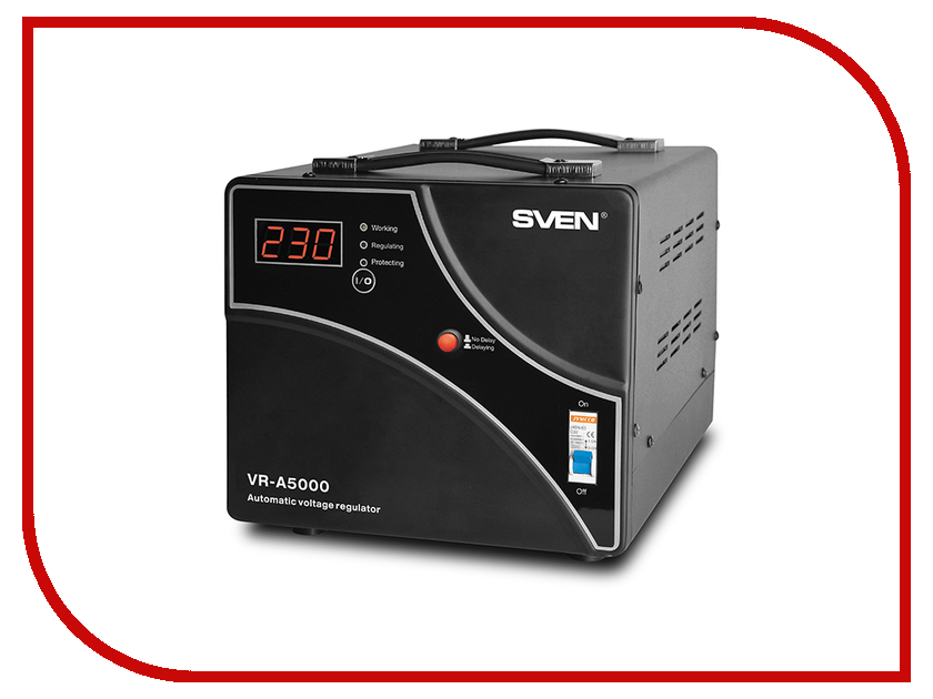 Стабилизатор Sven VR-A5000 SV-014896 стабилизатор sven vr p5000 sv 014957