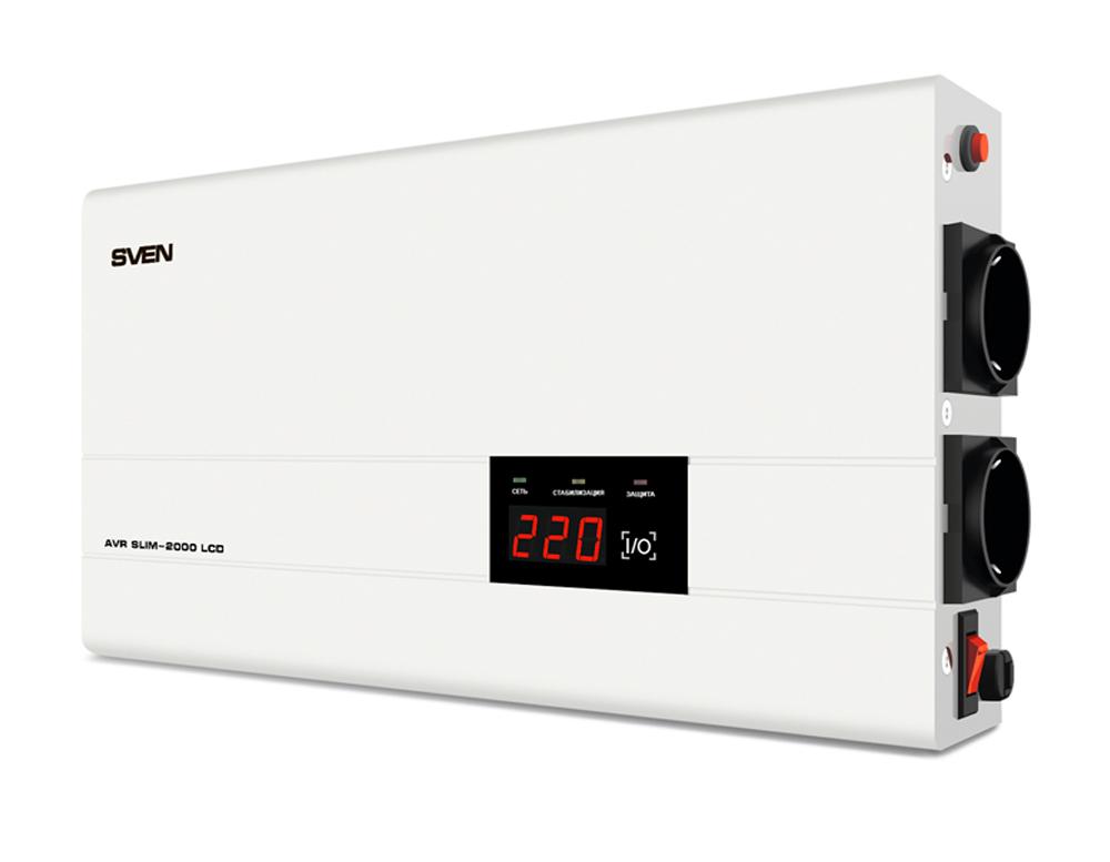 Стабилизатор Sven AVR SLIM 2000 LCD SV-013950