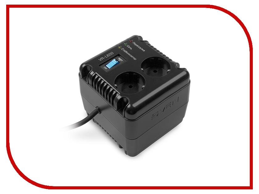 Стабилизатор Sven VR-L600 SV-014865 стабилизатор sven avr slim 1000 lcd sv 012816